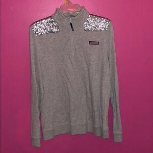 Gray Sparkly Shep Shirt